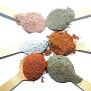 Natural Clay Powder Face Masks Green White Kaolin Red Pink Rhassoul Dead Sea